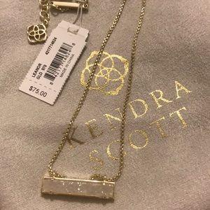 Kendra Scott 'Leanor' Gold Bar Pendent Necklace